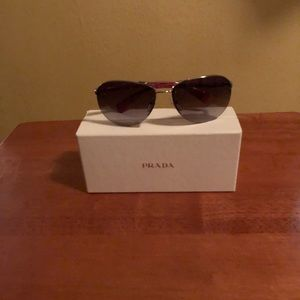 Prada aviator shades with box